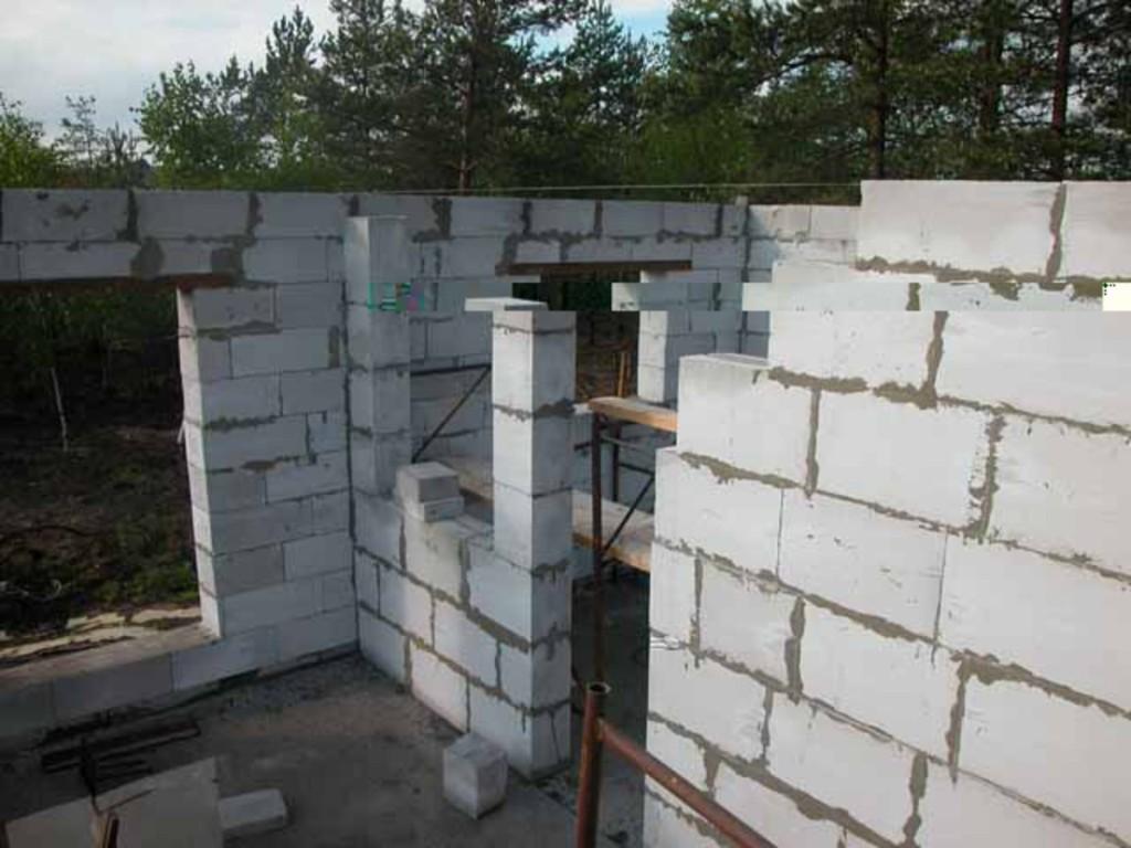 Пошаговое строительство дома своими руками из пеноблоков