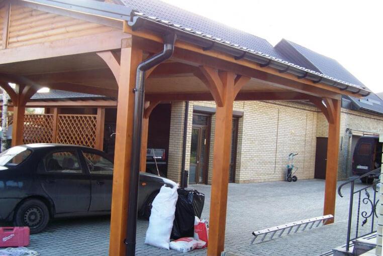 Использовать навес как гараж