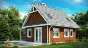 Бюджетный вариант перевоплощения старого домика в современное строение